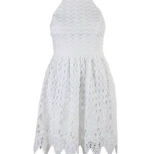 City studios juniors sleeveless lace dress